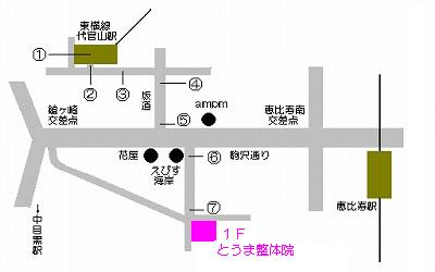 代官山駅からの道順